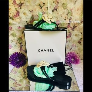 Authentic Chanel CC Camilla Sandals